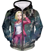 OtakuForm-OP T-Shirt Zip Up Hoodie / XXS Dragon Ball Super Cute Fighter Android 18 Pretty Graphic T-Shirt - Dragon Ball Z T-Shirt