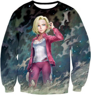OtakuForm-OP T-Shirt Sweatshirt / XXS Dragon Ball Super Cute Fighter Android 18 Pretty Graphic T-Shirt - Dragon Ball Z T-Shirt