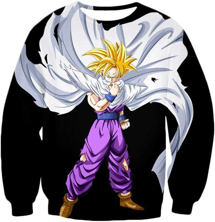 OtakuForm-OP Sweatshirt Sweatshirt / XXS Dragon Ball Super Extremely Cool Gohan Full Super Saiyan Awesome Black Sweatshirt - DBZ Sweater