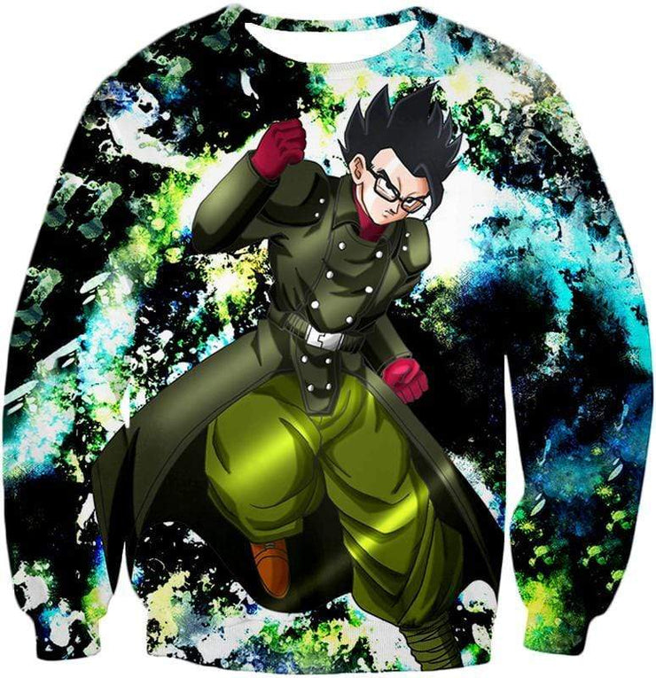 OtakuForm-OP Zip Up Hoodie Sweatshirt / XXS Dragon Ball Super Favourite Hero Gohan Cool Action Graphic Zip Up Hoodie - DBZ Clothing Hoodie