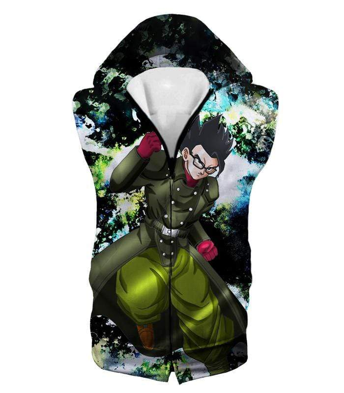 OtakuForm-OP Zip Up Hoodie Hooded Tank Top / XXS Dragon Ball Super Favourite Hero Gohan Cool Action Graphic Zip Up Hoodie - DBZ Clothing Hoodie