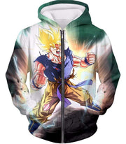 OtakuForm-OP Zip Up Hoodie Zip Up Hoodie / XXS Dragon Ball Super Favourite Hero Goku Super Saiyan 2 Action Zip Up Hoodie - Dragon Ball Super Hoodie