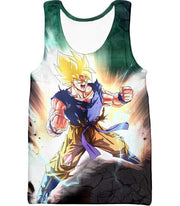 OtakuForm-OP Zip Up Hoodie Tank Top / XXS Dragon Ball Super Favourite Hero Goku Super Saiyan 2 Action Zip Up Hoodie - Dragon Ball Super Hoodie