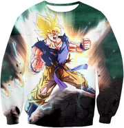 OtakuForm-OP Zip Up Hoodie Sweatshirt / XXS Dragon Ball Super Favourite Hero Goku Super Saiyan 2 Action Zip Up Hoodie - Dragon Ball Super Hoodie