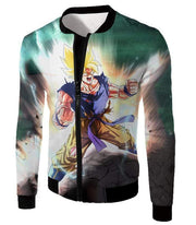 OtakuForm-OP Zip Up Hoodie Jacket / XXS Dragon Ball Super Favourite Hero Goku Super Saiyan 2 Action Zip Up Hoodie - Dragon Ball Super Hoodie