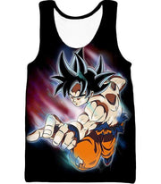 OtakuForm-OP Zip Up Hoodie Tank Top / XXS Dragon Ball Super Form Goku Ultra Instinct Cool Action Black Zip Up Hoodie - Dragon Ball Super Hoodie