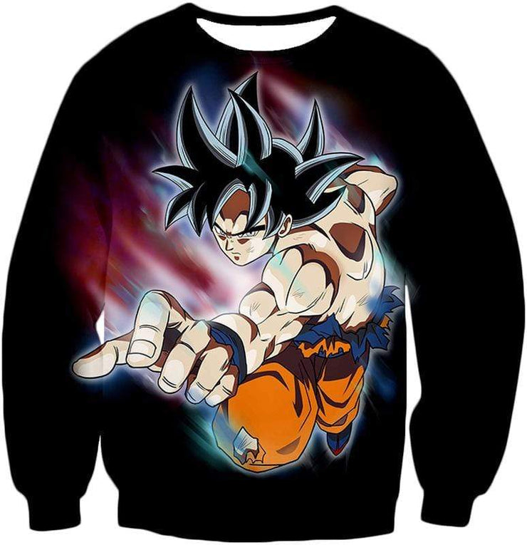 OtakuForm-OP Zip Up Hoodie Sweatshirt / XXS Dragon Ball Super Form Goku Ultra Instinct Cool Action Black Zip Up Hoodie - Dragon Ball Super Hoodie
