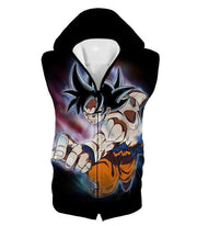 OtakuForm-OP Zip Up Hoodie Hooded Tank Top / XXS Dragon Ball Super Form Goku Ultra Instinct Cool Action Black Zip Up Hoodie - Dragon Ball Super Hoodie