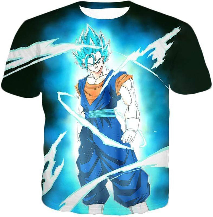 OtakuForm-OP T-Shirt T-Shirt / XXS Dragon Ball Super Fusion Technique Vegito Super Saiyan Blue Cool Black T-Shirt - DBZ Clothing T-Shirt