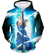 OtakuForm-OP T-Shirt Zip Up Hoodie / XXS Dragon Ball Super Fusion Technique Vegito Super Saiyan Blue Cool Black T-Shirt - DBZ Clothing T-Shirt