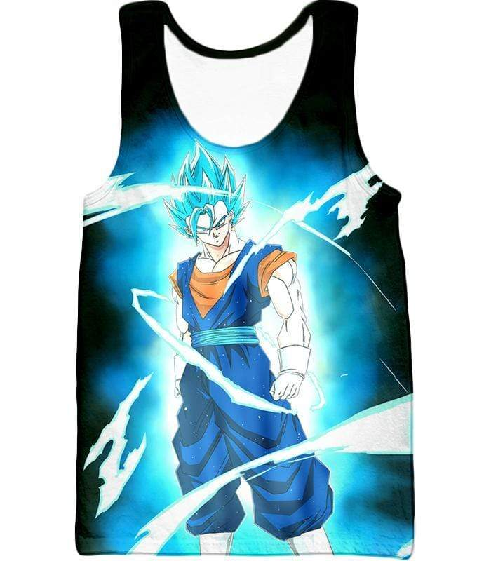 OtakuForm-OP T-Shirt Tank Top / XXS Dragon Ball Super Fusion Technique Vegito Super Saiyan Blue Cool Black T-Shirt - DBZ Clothing T-Shirt