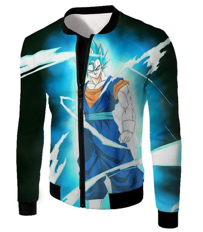OtakuForm-OP T-Shirt Jacket / XXS Dragon Ball Super Fusion Technique Vegito Super Saiyan Blue Cool Black T-Shirt - DBZ Clothing T-Shirt