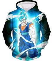 OtakuForm-OP T-Shirt Hoodie / XXS Dragon Ball Super Fusion Technique Vegito Super Saiyan Blue Cool Black T-Shirt - DBZ Clothing T-Shirt