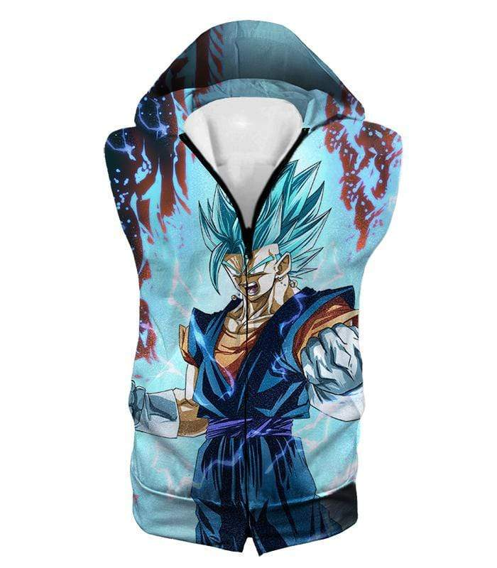 OtakuForm-OP Hoodie Hooded Tank Top / XXS Dragon Ball Super Fusion Technique Warrior Vegito Super Saiyan Blue Awesome Graphic Hoodie