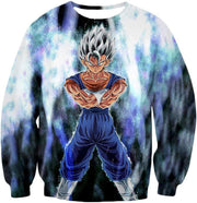 OtakuForm-OP Sweatshirt Sweatshirt / XXS Dragon Ball Super Fusion Vegito Ultra Instinct Form Cool White Sweatshirt - Dragon Ball Z Merch Sweater