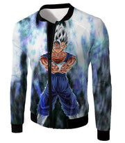 OtakuForm-OP Sweatshirt Jacket / XXS Dragon Ball Super Fusion Vegito Ultra Instinct Form Cool White Sweatshirt - Dragon Ball Z Merch Sweater
