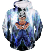 OtakuForm-OP Sweatshirt Hoodie / XXS Dragon Ball Super Fusion Vegito Ultra Instinct Form Cool White Sweatshirt - Dragon Ball Z Merch Sweater