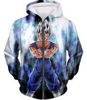 OtakuForm-OP Sweatshirt Zip Up Hoodie / XXS Dragon Ball Super Fusion Vegito Ultra Instinct Form Cool White Sweatshirt - Dragon Ball Z Merch Sweater