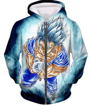 OtakuForm-OP Zip Up Hoodie Zip Up Hoodie / XXS Dragon Ball Super Godly Form Super Saiyan Blue Vegito Cool Zip Up Hoodie
