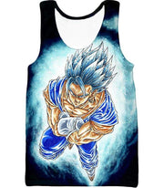 OtakuForm-OP Zip Up Hoodie Tank Top / XXS Dragon Ball Super Godly Form Super Saiyan Blue Vegito Cool Zip Up Hoodie