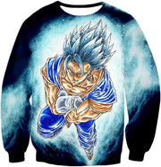 OtakuForm-OP Zip Up Hoodie Sweatshirt / XXS Dragon Ball Super Godly Form Super Saiyan Blue Vegito Cool Zip Up Hoodie