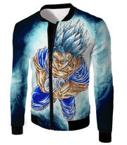 OtakuForm-OP Zip Up Hoodie Jacket / XXS Dragon Ball Super Godly Form Super Saiyan Blue Vegito Cool Zip Up Hoodie