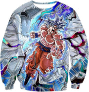 OtakuForm-OP Sweatshirt Sweatshirt / XXS Dragon Ball Super Hero Super Saiyan White Goku Amazing Action Sweatshirt - Dragon Ball Sweater