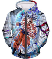 OtakuForm-OP Sweatshirt Zip Up Hoodie / XXS Dragon Ball Super Hero Super Saiyan White Goku Amazing Action Sweatshirt - Dragon Ball Sweater