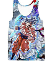 OtakuForm-OP Zip Up Hoodie Tank Top / XXS Dragon Ball Super Hero Super Saiyan White Goku Amazing Action Zip Up Hoodie - Dragon Ball Hoodie
