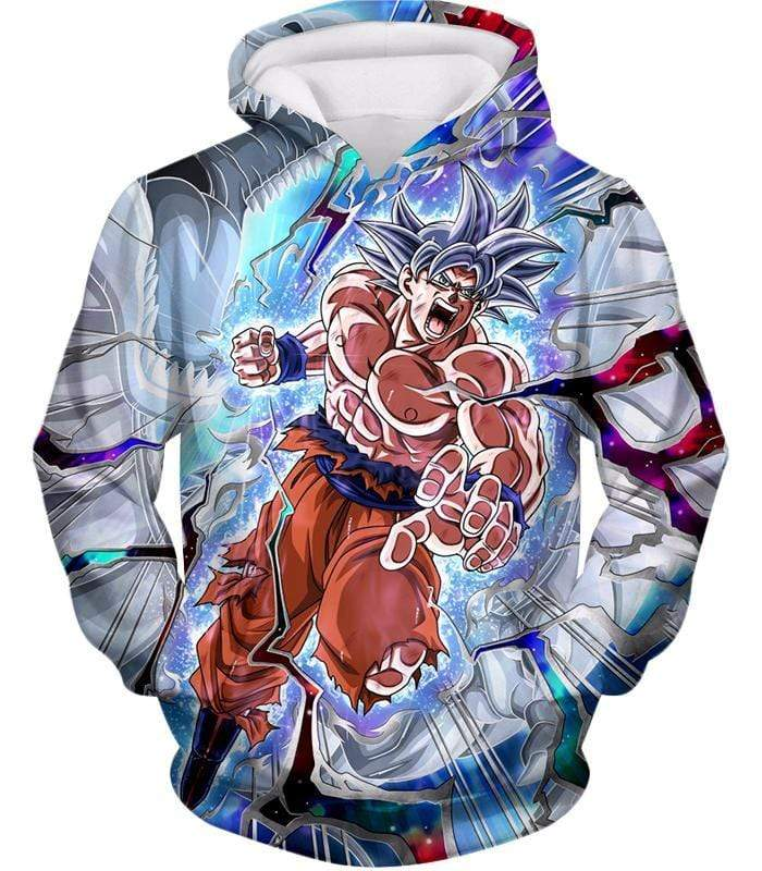 OtakuForm-OP Zip Up Hoodie Hoodie / XXS Dragon Ball Super Hero Super Saiyan White Goku Amazing Action Zip Up Hoodie - Dragon Ball Hoodie