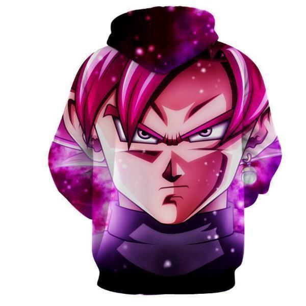 Dragon Ball Hoodie XXS Dragon Ball Super Hoodie - Black Goku SSJ Purple Galaxy Hoodie Jacket