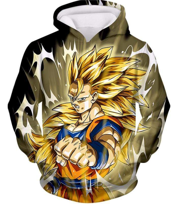 OtakuForm-OP Hoodie Hoodie / XXS Dragon Ball Super Incredible Fighter Goku Super Saiyan 3 Graphic Black Hoodie