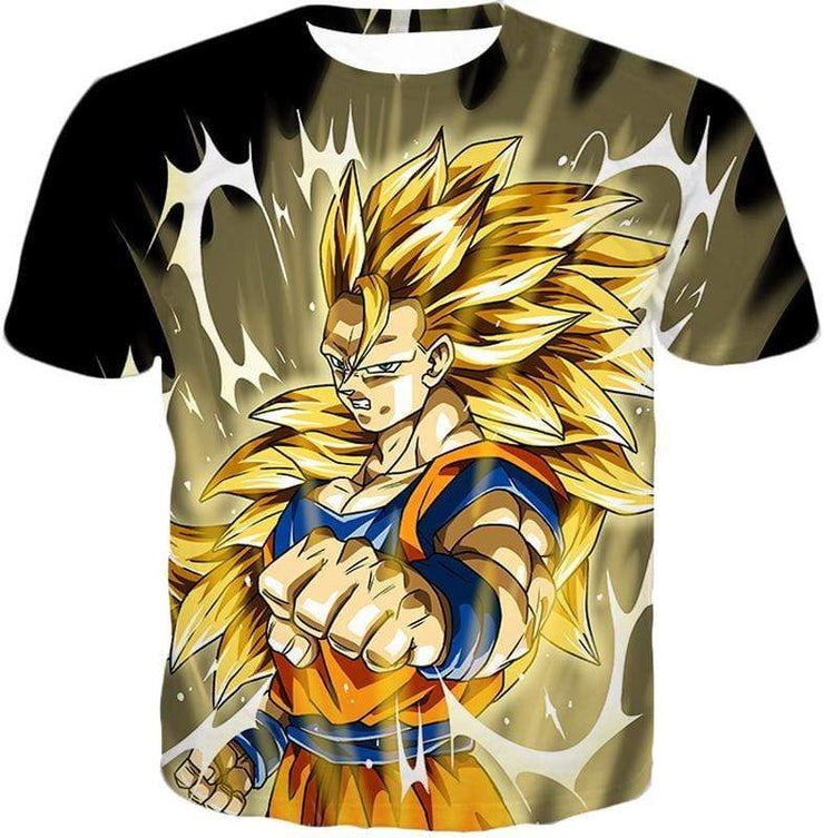 OtakuForm-OP Hoodie T-Shirt / XXS Dragon Ball Super Incredible Fighter Goku Super Saiyan 3 Graphic Black Hoodie