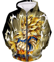 Dragon Ball Super Incredible Fighter Goku Super Saiyan 3 Graphic Black Hoodie