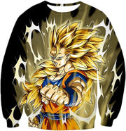 OtakuForm-OP Hoodie Sweatshirt / XXS Dragon Ball Super Incredible Fighter Goku Super Saiyan 3 Graphic Black Hoodie