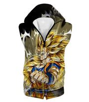 OtakuForm-OP Hoodie Hooded Tank Top / XXS Dragon Ball Super Incredible Fighter Goku Super Saiyan 3 Graphic Black Hoodie