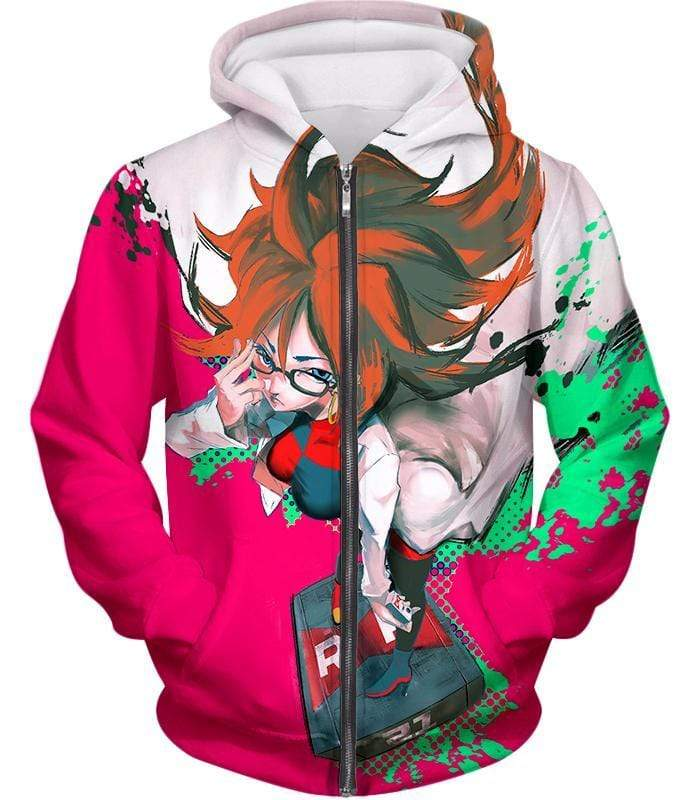 OtakuForm-OP T-Shirt Zip Up Hoodie / XXS Dragon Ball Super Incredibly Intelligent Android 21 Cool T-Shirt - Dragon Ball Super T-Shirt