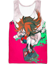 OtakuForm-OP Zip Up Hoodie Tank Top / XXS Dragon Ball Super Incredibly Intelligent Android 21 Cool Zip Up Hoodie - Dragon Ball Super Hoodie