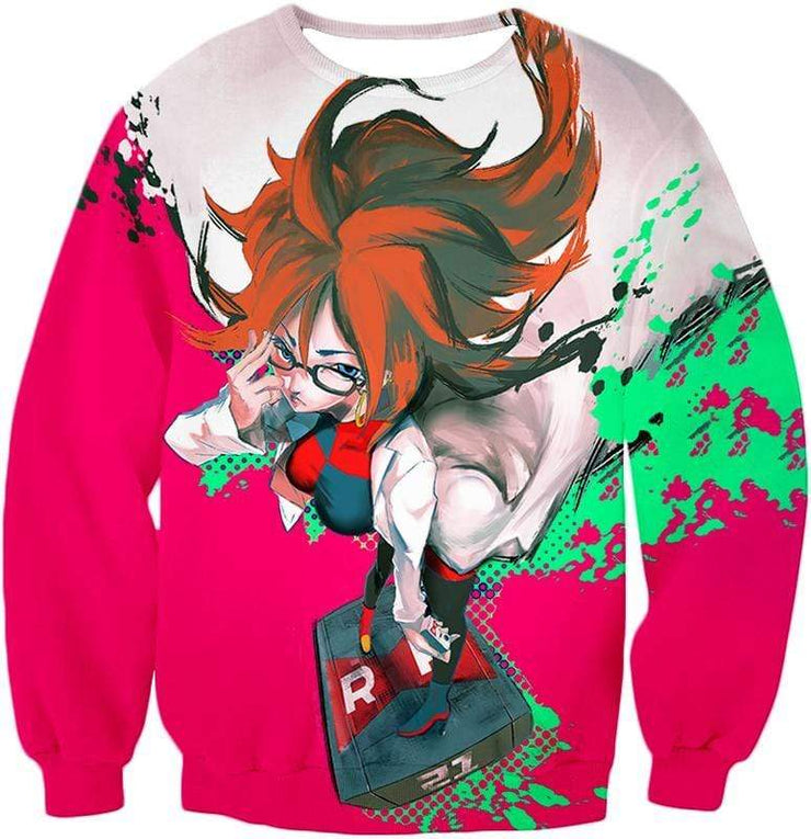 OtakuForm-OP Zip Up Hoodie Sweatshirt / XXS Dragon Ball Super Incredibly Intelligent Android 21 Cool Zip Up Hoodie - Dragon Ball Super Hoodie