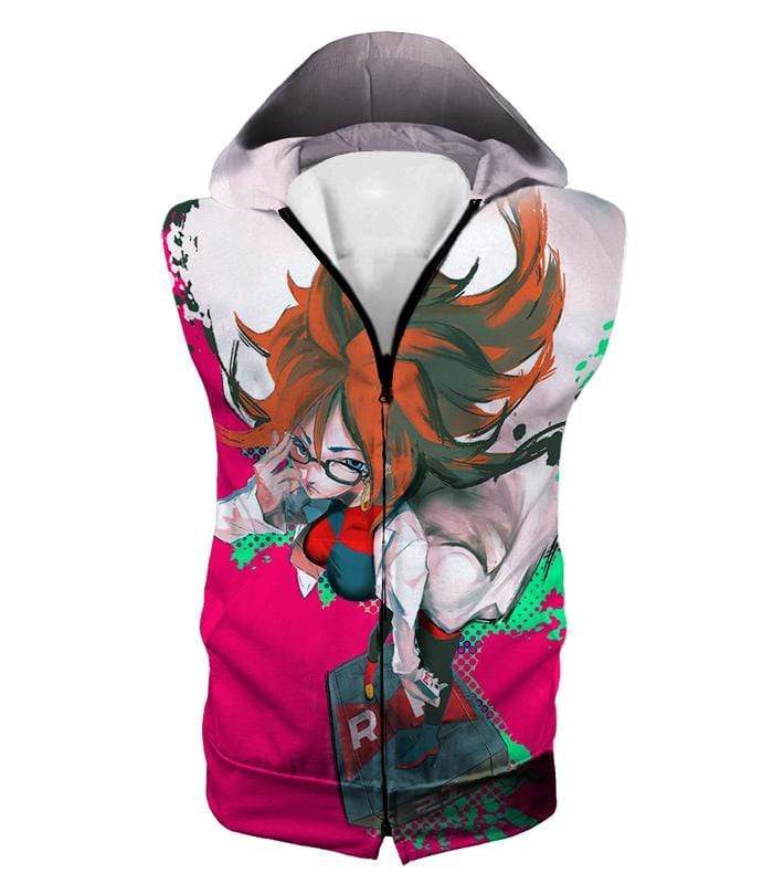 OtakuForm-OP Zip Up Hoodie Hooded Tank Top / XXS Dragon Ball Super Incredibly Intelligent Android 21 Cool Zip Up Hoodie - Dragon Ball Super Hoodie