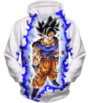 OtakuForm-OP Sweatshirt Hoodie / XXS Dragon Ball Super Latest Form Goku Ultra Instinct Super Cool Action White Sweatshirt - DBZ Sweater