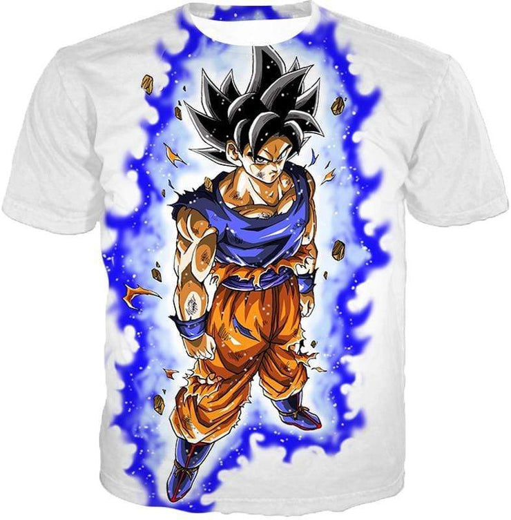OtakuForm-OP Sweatshirt T-Shirt / XXS Dragon Ball Super Latest Form Goku Ultra Instinct Super Cool Action White Sweatshirt - DBZ Sweater