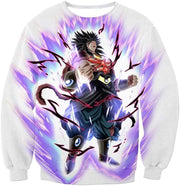 OtakuForm-OP Zip Up Hoodie Sweatshirt / XXS Dragon Ball Super Legendary Saiyan Warrior Broly Ultra Instinct Action Cool White Zip Up Hoodie - Dragon Ball Super Hoodie