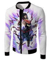 OtakuForm-OP Zip Up Hoodie Jacket / XXS Dragon Ball Super Legendary Saiyan Warrior Broly Ultra Instinct Action Cool White Zip Up Hoodie - Dragon Ball Super Hoodie