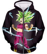 OtakuForm-OP Zip Up Hoodie Zip Up Hoodie / XXS Dragon Ball Super Legendary Super Saiyan Kale Cool Black Zip Up Hoodie - DBZ Clothing Hoodie
