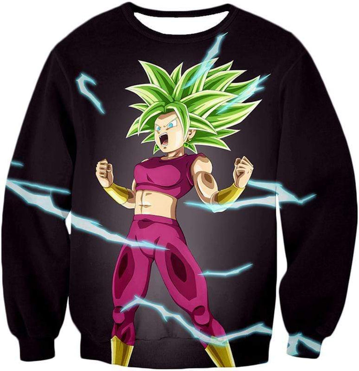 OtakuForm-OP Zip Up Hoodie Sweatshirt / XXS Dragon Ball Super Legendary Super Saiyan Kale Cool Black Zip Up Hoodie - DBZ Clothing Hoodie