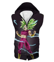 OtakuForm-OP Zip Up Hoodie Hooded Tank Top / XXS Dragon Ball Super Legendary Super Saiyan Kale Cool Black Zip Up Hoodie - DBZ Clothing Hoodie