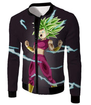 OtakuForm-OP Zip Up Hoodie Jacket / XXS Dragon Ball Super Legendary Super Saiyan Kale Cool Black Zip Up Hoodie - DBZ Clothing Hoodie