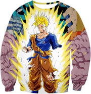 OtakuForm-OP Sweatshirt Sweatshirt / XXS Dragon Ball Super One Handed Goku Super Saiyan Action Graphic Sweatshirt