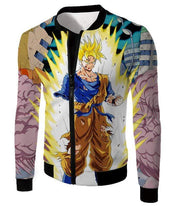 OtakuForm-OP Sweatshirt Jacket / XXS Dragon Ball Super One Handed Goku Super Saiyan Action Graphic Sweatshirt